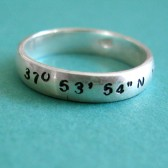 Personalized Latitude & Longitude Wedding Band