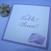 Lavender Seashell Table Number