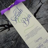 Layered Wedding Program