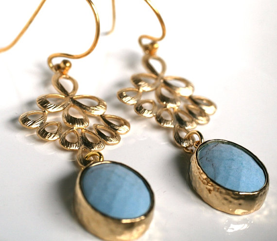 Something Blue Earrings (by Simply Sleek via EmmalineBride.com) #handmade #wedding
