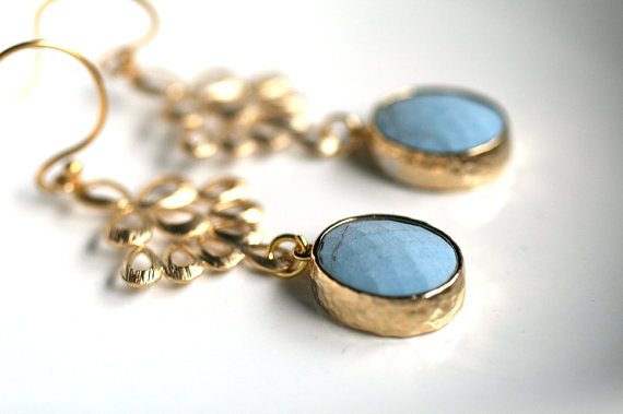 Something Blue Earrings By Simply Sleek Via Emmalinebride Handmade Wedding