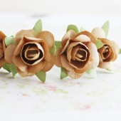Light Brown Roses Hair Pins