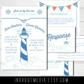 Illustrated Nautical Invitation Suite