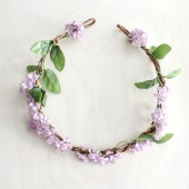 Lilac Floral Hair Wreath