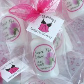 Lingerie Shower Lotion Favors