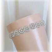 Couture Crystal Rhinestone Bridal Keepsake Garter, Wedding Garter, Bridal Belt