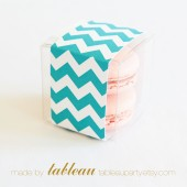 Customizable Chevron Favor Box Kit