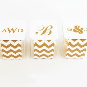 Personalized Chevron Favor Box