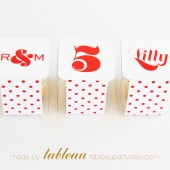 Customizable Polka Dots Favor Box Kit with Personalized Labels