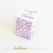 Customizable Floral Favor Box Kit with Personalized Labels