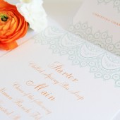 Lace Menu and Place Card