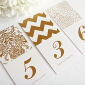 Chevron, Damask, Floral Place Card