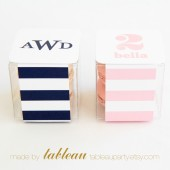 Customizable Stripes Favor Box Kit with Personalized Labels