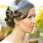 Hand Beaded Bandeau Veil