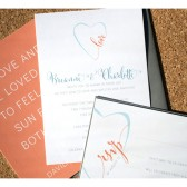 Love in Heart Wedding Invitation