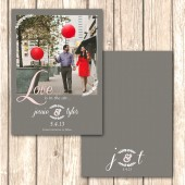 Romantic and Shabby Chic Save the Date Card