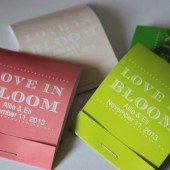 Matchbooks wedding favors