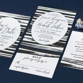 Black & White Streak Invitations