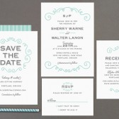 Curly Wedding Invitations