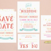 Good Times Wedding Invitation