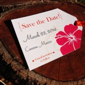 Tropical Luggage Tag Save the Date