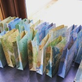 Map Luminary Bags for Travel Themed Weddings