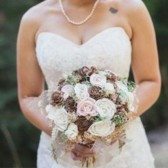 Alternative Bridal Bouquet - Luxe Collection, Sola Flowers, Pine Cones, Peony, Moss, Keepsake Bouquet, Woodland, Rustic Wedding