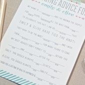 Bridal Shower Mad Libs Game