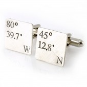 Latitude & Longitude Cuff Links