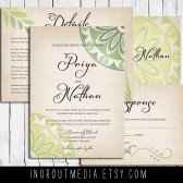 Rustic Mandala Invitation Suite