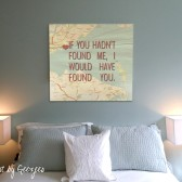Over the Bed Word art Map Canvas