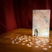 Travel Centerpiece, Map Luminary Bags, Travel Wedding