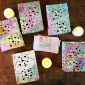 map luminary favors, travel theme