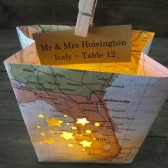 Map Place Cards, Travel Themed Seating Idea