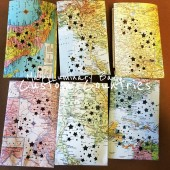 Custom Map Luminaries, Travel Themed Wedding, Bon Voyage