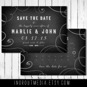 Chalkboard Calendar Save the Date