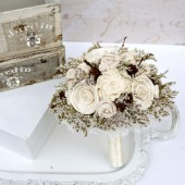 Small Romantic Winter Bride Bouquet
