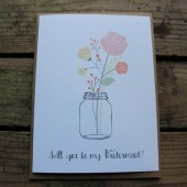 Mason Jar Wedding Party Bridesmaid Card