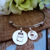 Mason Jar Wedding Date Bracelet