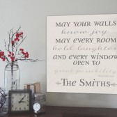 first dance words on canvas wall sign for the home