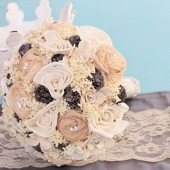 medium ivory cream grey bouquet