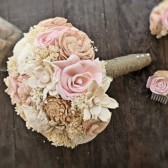 Handmade Wedding Bouquet- Medium Natural Muted Bridal Bridesmaid Bouquet, Alternative Bouquet, Keepsake Bouquet, Rustic Wedding