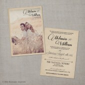 "Vintage Wedding Invitation - the ""Melania"""