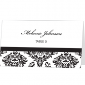 Damask Escort Card Template