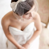 Birdcage Veil with Silk Bow - Audrey