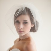 Double Layer Tulle Blusher Veil - Chloe