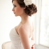 Silk Flowers with Beaded Leaves Bridal Mini Hat, Flower Fascinator, Bridal Headpiece- Caroline