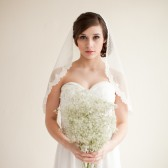 Dotted Point d' Esprit Lace Mantilla Veil - Emma