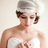 Dotted Bridal Cap - Claire