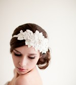 Lace and Rhinestone Headpiece